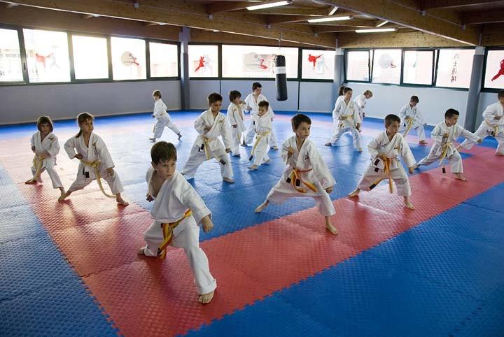 Nuestra clase de pequeños karatekas